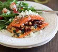 Como cozinhar salmão recheado